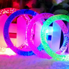 Fashion LED Light Up Flashing Bracelet Bangle Wristband Glow Blinking Party'Gift