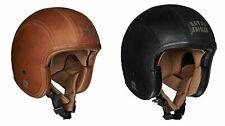 100% Original Royal Enfield Open Face Granado Helmet Vintage Brown/Black Leather