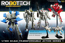 30th Anniversary 1/100 Robotech VF-1 Transformable Set of 4 - NEW in Damage Box