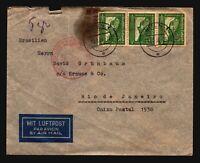Germany 1938 Flight Cover to Rio De Janeiro (See Notes) - Z17476