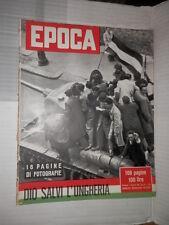 EPOCA Rivoluzione Ungheria Anna Frank diario Herman Wouk Kim Novak Rubirosa di