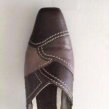 Zapatos señoras de ancho 4 e tonos de marrón Clarks Tacón 100% Cuero Suave