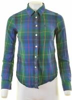 JACK WILLS Womens Shirt UK 8 Small Multicoloured Check Cotton  NR04