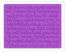 Sizzix Ocean Script Embossing folder #660359 Retail $4.99 SO MUCH FUN!!