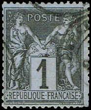 Scott # 86 - 1877 - ' Peace & Commerce '; Lilac Blue Paper