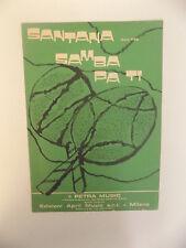 SPARTITO SANTANA SAMBA PA TI ED. APRIL MUSIC 1971  - E1