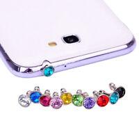 10X Anti Dust Crystal Cap Earphone Jack Plug Stopper For Cell Phone 10*3.5MM LJ