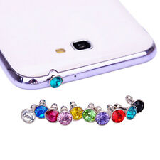 10X Anti Dust Crystal Cap Earphone Jack Plug Stopper For Mobile Phone 10*3.5mmLO