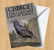 Personalised Raven Game Of Thrones Style/Inspired Birthday Card