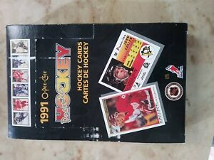 1991 O-Pee-Chee Premier Hockey Partial Box 24 Unopened Packs