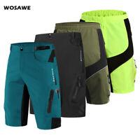 Men Cycling Baggy Shorts MTB Mountain Bike Bicycle Casual Sport Pants Gel Padded