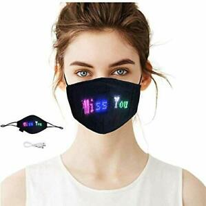 Masque Visage Programmable LED Bluetooth Personnalisable Halloween Noël Cosplay