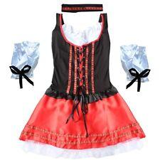 Ladies German Beer Maid Bavarian Oktoberfest Outfit Fancy Dress Up Wench Costume
