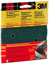 New 3M 9310W 5-Inch 5 Hole Dust Free Discs, Course 40 Grit, 5-pack