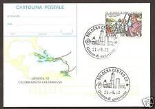 CARTOLINA POSTALE  ANNULLO PRIMO GIORNO BOLOGNA  COLOMBO 1992 RARA