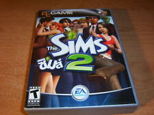SIMS 2 NON US VERSION PC VIDEO GAME 4 CD ROM KEY CASE