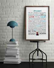 Frozen Quote Poster *Print*
