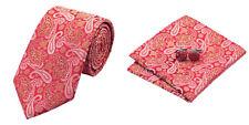 Red Yellow Novelty 100% Silk Classic Mens Necktie Tie Hanky Cufflink Set NT270