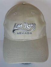 LAS VEGAS NEVADA Gambling Sin City ADVERTISING Tan Souvenir SNAPBACK HAT CAP