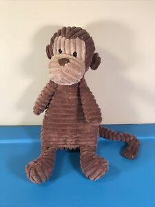 "JellyCat Monkey Plush Cordy Roy Brown Textured Jungle Safari Stuffed Animal 14"""