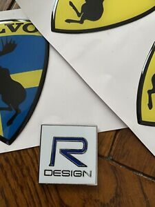 Volvo R DESIGN badge/sticker aliuminum 3D