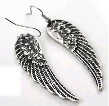 Devil Angel Demon Wings Feather Earrings Gift Set Heavy Metal Punk Rock and Roll