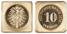 GERMANY - EMPIRE Wilhelm I 1873-G AV Restrike 10 Pfennig, Klippe NGC PR66 Cameo
