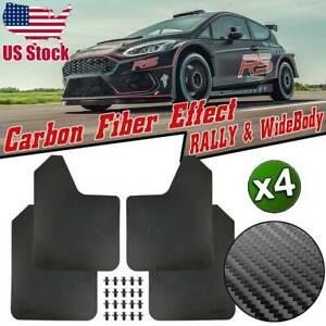 4x Rally Carbon Fiber Effect Mud Flaps Mudflaps Mudguard Splash Guards Universal