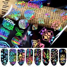 8 Fogli Nail Art Adesivi Unghie dei Piedi FOIL Decalcomania Manicure Accessori p...