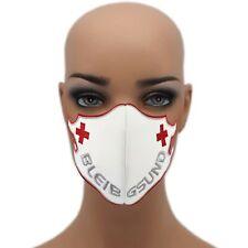 Bleib Gsund ⛑️ Rot Kreuz ☆60° waschbar Mehrweg Schutzmaske☆ Damen Mundschutz ✔