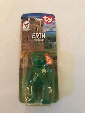 *NEW in BOX* RARE 1994 Retired Erin The Bear  Ty Beanie Baby