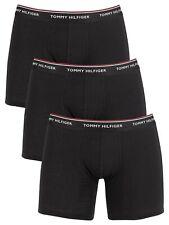 Tommy Hilfiger Men's 3 Pack Premium Essentials Boxer Briefs, Black