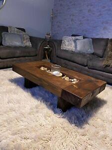 Rustic handmade solid wood sleeper coffee table Xtra Large