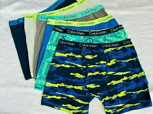 Calvin Klein Boys' Youth Boxer Briefs, 6-pack - MULTICOLOR UNDERWEAR SHORT S-XL