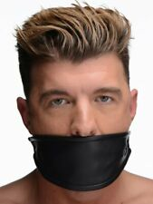 Strict Leather Covered Ball Gag Mask BDSM Bondage Black Master Slave Cosplay NEW