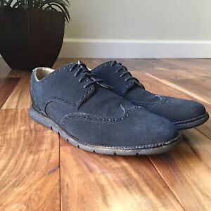 Cole Haan Grand OS Wingtip Men Blue Navy Oxford Shoe Size 11