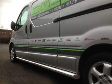 To Fit 02 - 14 Vauxhall Opel Vivaro LWB Stainless Steel Side Bars Tubes Steps