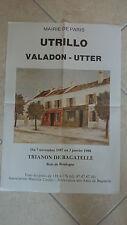 affiche ancienne utrillo valadon utter bois boulogne expo 1987 88