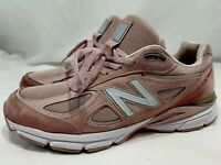 New Balance 990 V4 Pink Men's Running Dad Shoe Sz 9.5 Made USA Faded Rose Komen