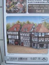 Altstadt-Set 2 Altstadthäuser 1:87 HO Kartonbausatz NEU Bastelbogen