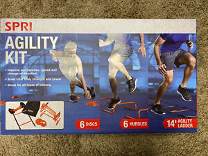 Spri Agility Kit 6 Discs 6 Hurdles 14' Agility Ladder Crossfit workout Home Gym