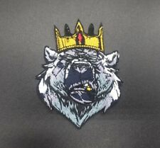 Parche oso corona patch crown animal bear king gang termoadhesivo ropa nature