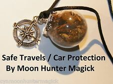 Safe Travels Car Protection Witch Ball Pagan Rear View Mirror Charm Talisman