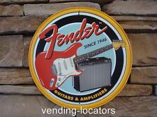 FENDER GUITAR & AMPLIFIERS DECOR DISPLAY Sign Stratocaster Music Pick Guard New