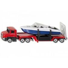 Siku 1613 Truck Low Loader with Boat Model Toy Car