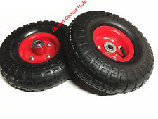 2 pcsx10 Inch Pneumatic Wheels Hand Trolley Cart Sack Truck Tyres 16mm-Brand New