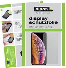 2+2x Apple iPhone XS Protector de Pantalla protectores mate dipos