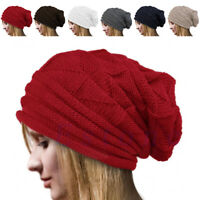 Unisex Men Women Winter Warm Oversize Slouchy Crochet Knit Beanie Hat Ski Cap