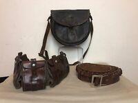 Antique Holster Belt, Cartridge Belt, Hunting bag