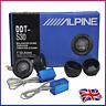 ALPINE DDT-S30 Car Stereo Speakers Music Soft Dome Balanced Car Tweeter 360W UK